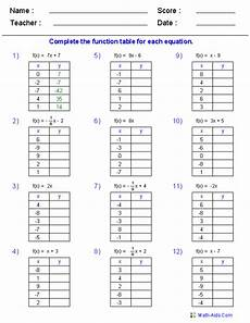 Patterns In T Charts Grade 4 Worksheets Function Table Worksheets Function Table Amp In And Out