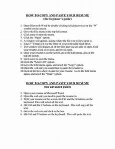 Sample Resume Copy How To Copy And Paste Your Resume