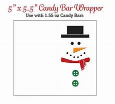 Free Printable Candy Wrapper Template Snowman Candy Bar Wrappers Printable Snowmen Candy Wrappers
