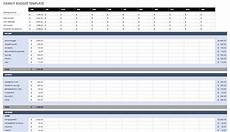 Budget Plan Template Free Monthly Budget Templates Smartsheet