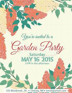 Garden Party Invites Garden Party Invitation Template Stock Photos Freeimages Com