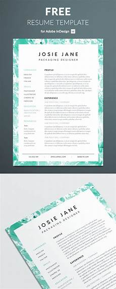 Indesign Resume Template Creative Resume Template Free Indesign Templates