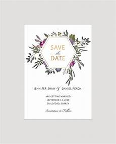 Save The Date Card Design Muted Floral Save The Date Card Flamboyant Invites