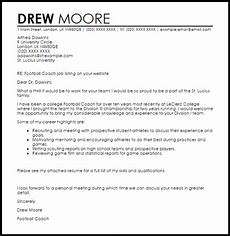 Football Coach Cv Template Football Coach Cover Letter Sample Cover Letter