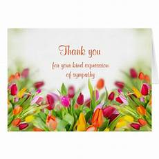 Condolences Thank Yous Thank You Sympathy Card Zazzle