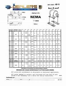 Nema Size Chart Transition Conversion Base Dimensions