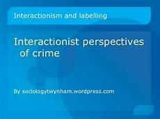 Interactionist Perspective Interactionist Perspective Interactionism In Sociology
