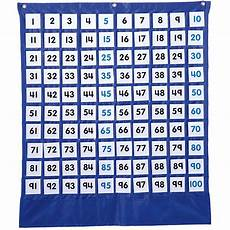 100 Square Pocket Chart Deluxe Hundred Board Pocket Chart Cd 158157 Carson Dellosa