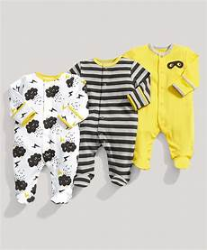 unisex babie clothes boys essentials 3 pack of clouds all in ones multipacks