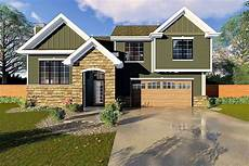 split level house plan with upstairs laundry 62526dj