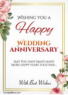 Wedding Greetings Words Happy Wedding Anniversary Card Words Just For You