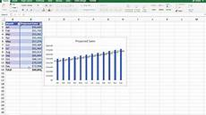 Sales Projections Create A Simple Monthly Sales Projection Table And Chart