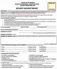 Incident Report Examples 36 Incident Reports In Pdf