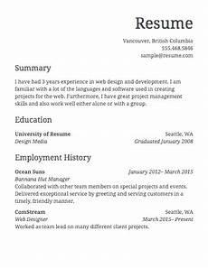 Example Of A Simple Job Resume Free Resume Builder 183 Resume Com