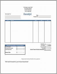 Receipt For Service Template Service Receipt Template Spreadsheetshoppe