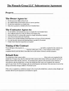 Free Subcontractor Agreement Subcontractor Agreement Real Estate Forms Pinterest