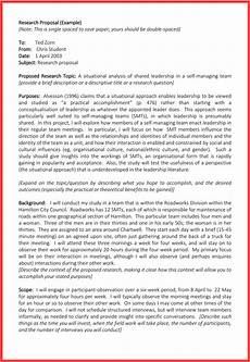 An Example Of A Research Design Research Proposal Template 3 Printable Samples