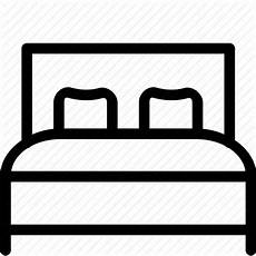 bed bedroom interior king size relax rest sleeping icon