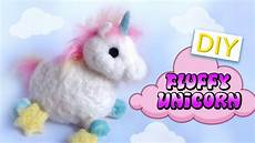 diy unicorn diy fluffy unicorn needle felt tutorial kawaii