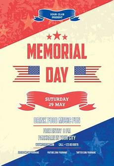 Memorial Day Flyer Memorial Day V02 Free Flyer Psd Template By Elegantflyer