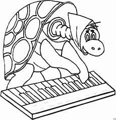 gratis malvorlagen klavier schildkroete spielt klavier ausmalbild malvorlage comics