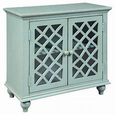 mirimyn antique teal accent cabinet signature design