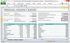 Budget Worksheet Excel Free Personal Monthly Budget Template For Excel