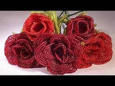 beadwork rose how to make a with beaded tutorial