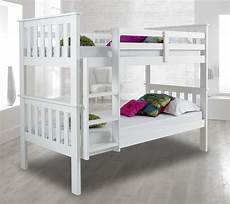 atlantis wood bunk bed 3ft single with 4 mattress and 2