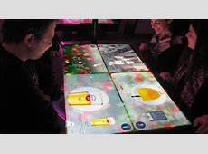 Interactive Restaurant Technology with touch enabled tables