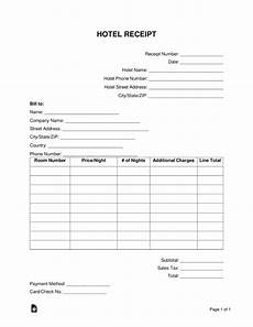 hotel receipt template word free hotel receipt template word pdf eforms free