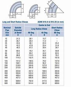 Elbow Thickness Chart Asme B16 9 Astm A815 Uns S31803 45 Degree Elbow Lr Be 3