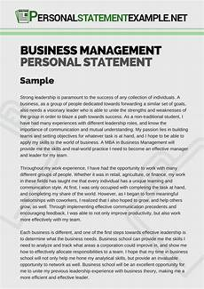 Management Personal Statement Business Management Personal Statement Example