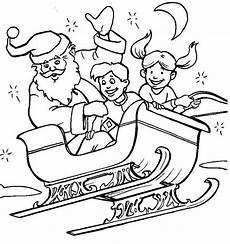 Ausmalbild Weihnachtsmann Mit Schlitten Ausmalbilder Weihnachten Bild Weihnachtsmann Schlitten