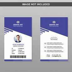 Pvc Id Card Template Id Card Template Premium Psd File
