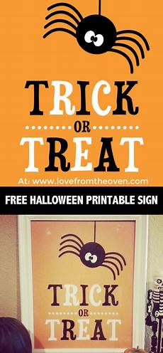Printable Sign Free Halloween Printable Sign Love From The Oven