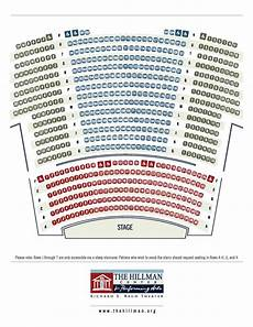 Highland Arts Theatre Seating Chart Seating Chart The Hillman Center For Performing Arts