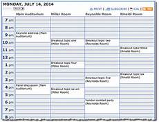 Conference Room Schedule Template Trumba Help Conference Schedule Calendar View