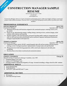 Construction Executive Resume Samples 21 Best Best Construction Resume Templates Amp Samples