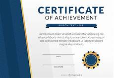 Achievement Certificates Template Certificate Of Achievement Template Mockup Vector Download