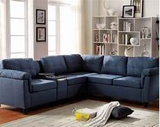 Blue Sectional Sofa 3d Image by Acme Furniture Blue Sectional Sofa Cleavon Ac51525