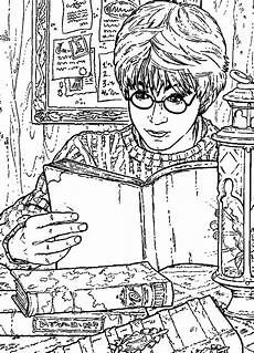 n 26 coloring pages of harry potter and the