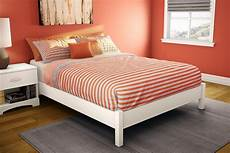 south shore step one platform bed 54 quot in white