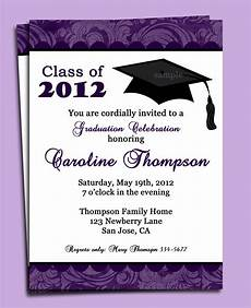 Graduation Party Invitation Graduation Party Or Announcement Invitation Printable Or