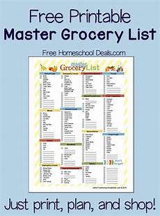 Making A Grocery List Worksheet Free Printable Master Grocery List Instant Download