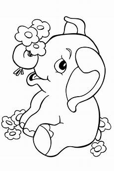 baby elephant coloring book pages coloring
