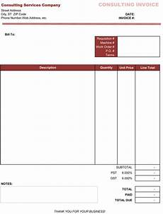 Invoice Format For Consultancy 5 Free Consultant Invoice Templates Word Excel Make