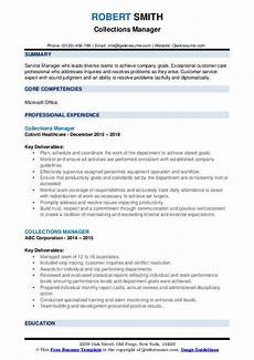 Collection Manager Resume Collections Manager Resume Samples Qwikresume