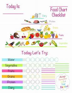 Daily Nutrition Chart For Children Free Printable Healthy Eating Chart Tracker For Kids