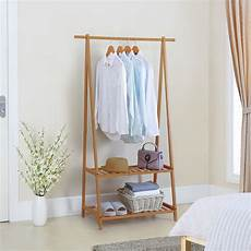 finnhomy bamboo clothes rack portable large garment